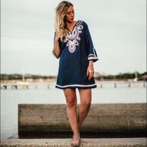 NWT!💕Les Canebiers Blue/ White Tunic Dress